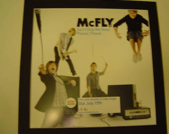 McFly Don't Stop Me Now  Original  Poster in A Custom Made Mount Ready To Frame