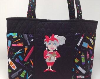 Hairdresser Theme Tote Bag
