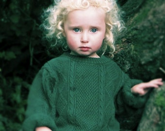 Little Irish Goldilocks, Vintage Photography, Fine Art Print, Girl with Curly Hair, surreal fairytale