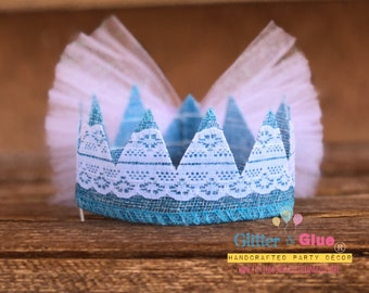 Magical Fairy Burlap lace Crown