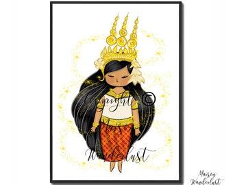 Poster - Asia - Apsara - home decor Cambodia