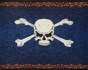 3D Fire Skull & Crossbones Pirate skull tapestry