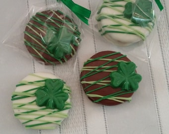 St Patrick's Day Chocolate Covered Oreos