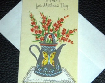 vintage cards ... MOTHERS DAY announcement CARD ...