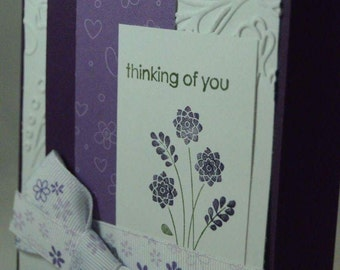 Handmade Thinking of You Greeting Card