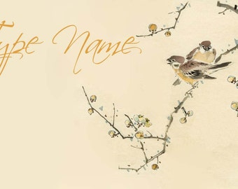 Goldfinch Place Card Template