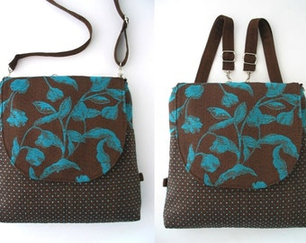 backpack bag converts to crossbody bag ,messenger backpack, convertible backpack purse, zipper bag, fit ipad
