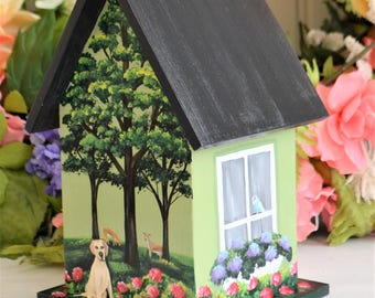 Birdhouse Custom to Match Home, Decorative, Painted