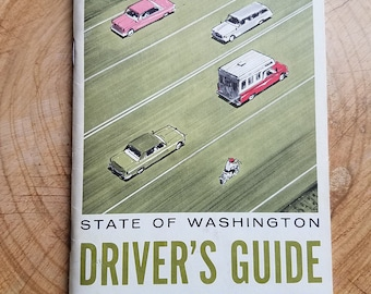 Washington Driver's Guide (circa 1970s). DMV. Driving. Auto ephemera. Car enthusiasts. Car manuals. New car.