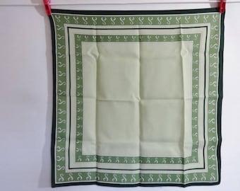 Vintage  Green neck Scarf 47cm x 48cm