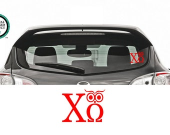 Chi Omega Owl Decal - Chi Omega Owl - Vinyl Decal -Chi Omega Car Decal - Chi Omega - Car Decal - Greek Decal - ChiO Owl Car Decal