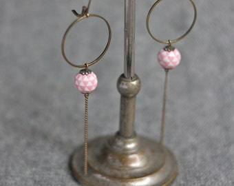Earrings pink flags