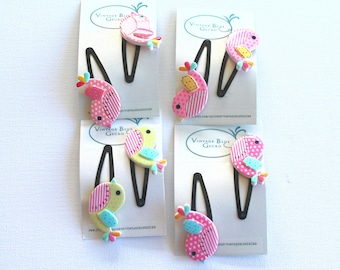 Pretty bird Barette clip, snap clip, hair accessory