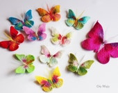 Butterflies, 10 pieces, small and colorful to tinker for treats for the children dress