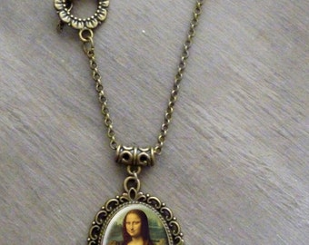 Collier cabochon • Mona Lisa •  la joconde -Da vinci -renaissance