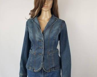 Vintage 90's St. Johns Bay Jean Jacket, Women's Denim Jacket//Women's size L Large