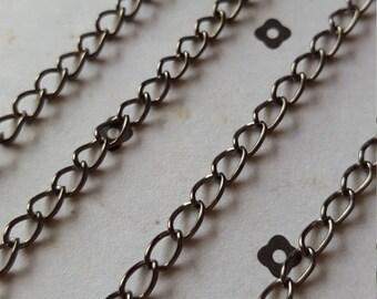 5 FT. Gunmetal chain 3.5x5mm