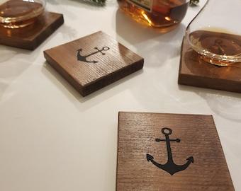 Set of 4 coasters wood