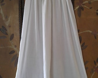1930s long white cotton embroidered eyelet, baby Christening dress
