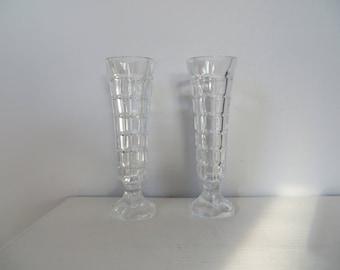 Cristal D' Arques Cut Crystal Bud Vases - Pair