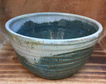 Ceramic Blue Wave Planter or Bowl