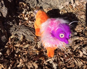 Fantasy Graceling Doll Plush-Orange, Purple, and Pink-Lion, Eagle, Owl, Goblin