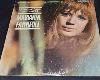 Vintage Vinyl Record Marianne Faithfull: Go Away From My World Album PS-452