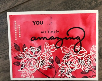 You are simply amazing greeting card.