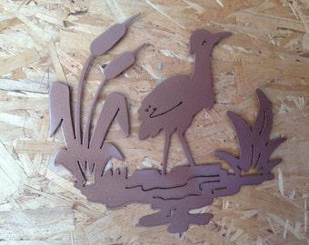 Cattails n Crane