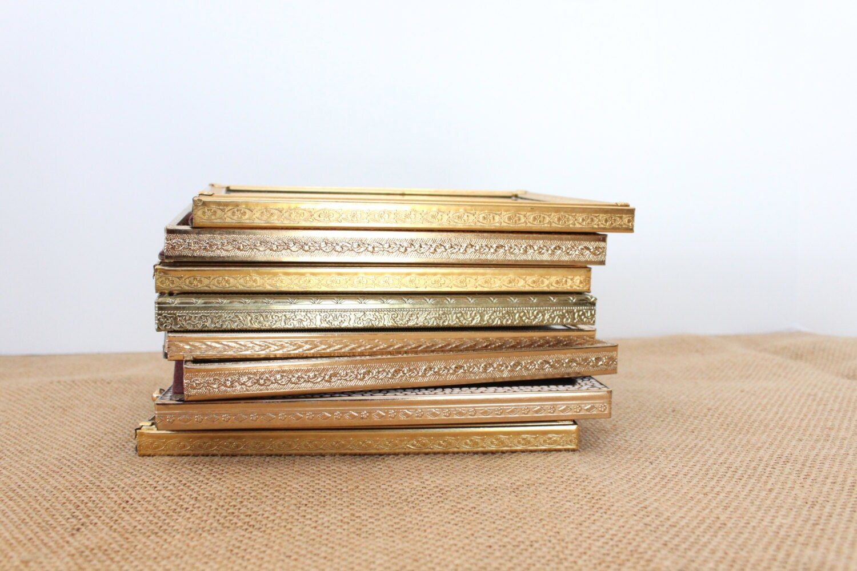 Vintage Gold-Metall Rahmen 5 x 7 Hochzeit Tisch zahlen