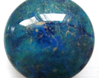 Custom made One of a Kind Furniture and Cabinet Knobs-Teal and Gold Galaxy