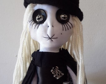 Handmade Witch doll, handmade gothic rag doll, collectors doll, horror dollm, OOAK doll, victorian doll, custom made, halloween doll