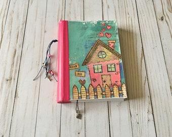 Dream Big diary handmade journal book notebook sketchbook  with 300 gsm (140 lbs) bristol paper