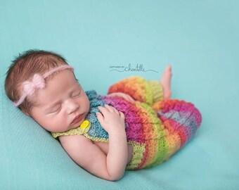 INSTANT DOWNLOAD - Crochet Pattern Aran Overalls (Fingering Weight)