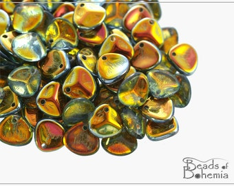50 pcs Crystal Marea Czech Rose Petal Beads 7x8 mm, (9684)