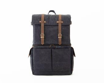 Camera Backpack, Backpack, Laptop Backpack, Travel Backpack, Canvas Backapck, Backpack Men, Bag Women, Camera Bag, GRAY CANVAS / JOURNEYMAN