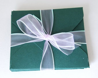 Forest Green Envelope Set for Gift Cards - Fits 2.75x3.25 Cards - Stationery