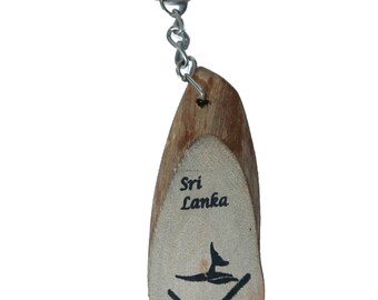 Natural cinnamon timber Whale fluk (tail ) design kegchain