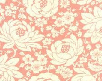 Fabric by Moda: Hello Darling by Bonnie and Camille, Pink with Cream Flowers