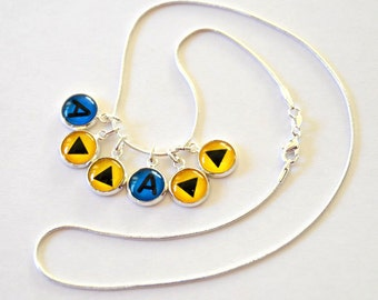 Legend of Zelda Ocarina of Time Necklace - Choose Your Melody - Song of Storms, Epona's Song, Song of Time, Gaming Necklace, Nintendo