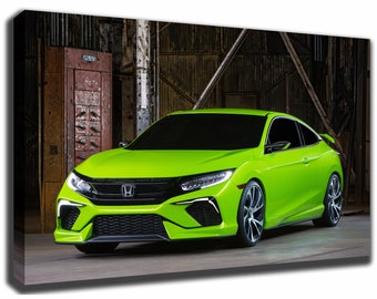 HONDA CIVIC Canvas/Poster Wall Art Pin Up HD Gallery Wrap Room Decor Home  Decor