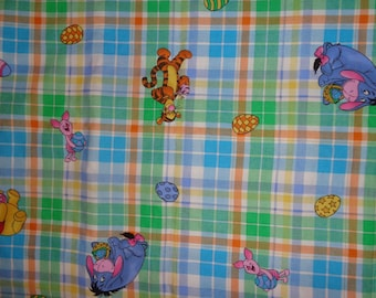 Pooh/Tigger/Piglet Easter Cotton Fabric by the Yard