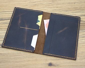 Personalized Leather Passport Wallet, Distressed Leather Travel Wallet, Passport Holder, Leather Passport Cover, Free Monogramming