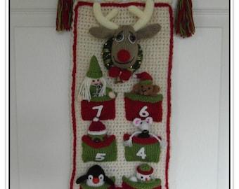 Advent Calendar 7 sleeps  Pattern only IMMEDIATE DOWNLOAD