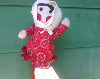 FREE SHIPPING hand made doll vintage (Vault B2)