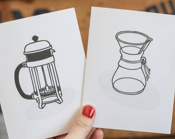 Coffee Cards Set of 8