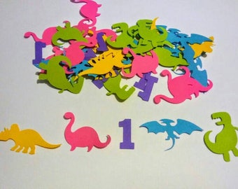 Dinosaur confetti, girl Dinosaur confetti, pink dinosaur confetti 150 pieces