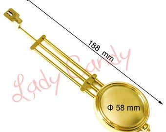 Gold PENDULUM clock movement restoration 188 mm new #210087 old clock