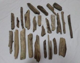 Driftwood Pieces - Bulk Driftwood Pieces - Beach Wood - Craft Supplies - 25 Pieces !