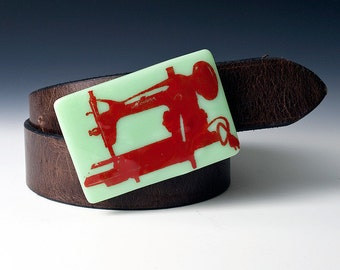 Fused Glass Sewing Machine Buckle